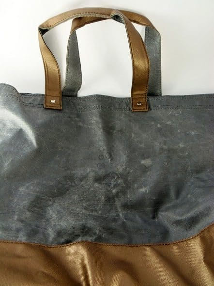 Pewter and Bronze Tote