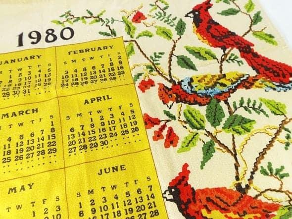 1980 Calendar Towel