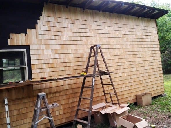 Back of Cabin - Partially Sided