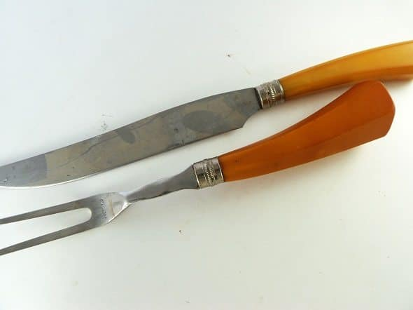 Bakelite Meat Serving Set