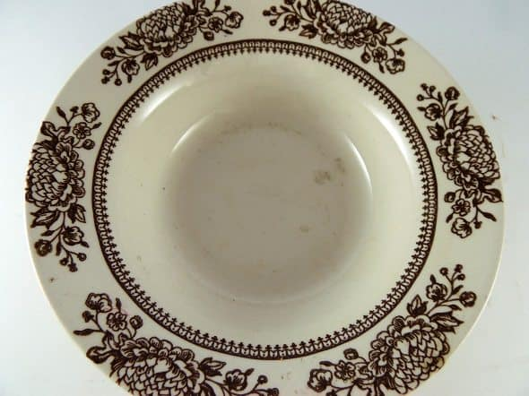 Brown Transferware Bowl