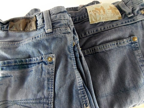 Redyed Blue Jeans