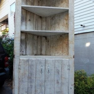 Curb Finds: Corner Cabinet and Picnic Table