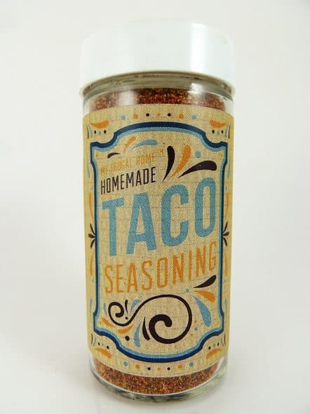 Taco Seasoning Mix with Label