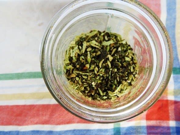 Jar of Crushed Pepper Flakes