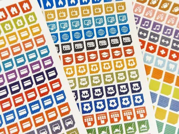 Bill Pay Sticker Set