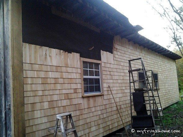 Cedar Siding Progress