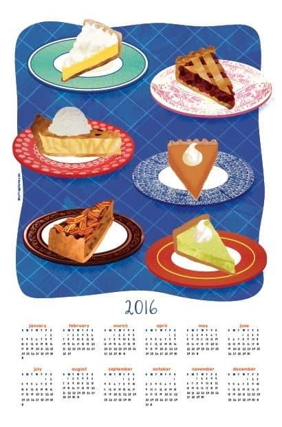 2016 Tea Towel Calendar