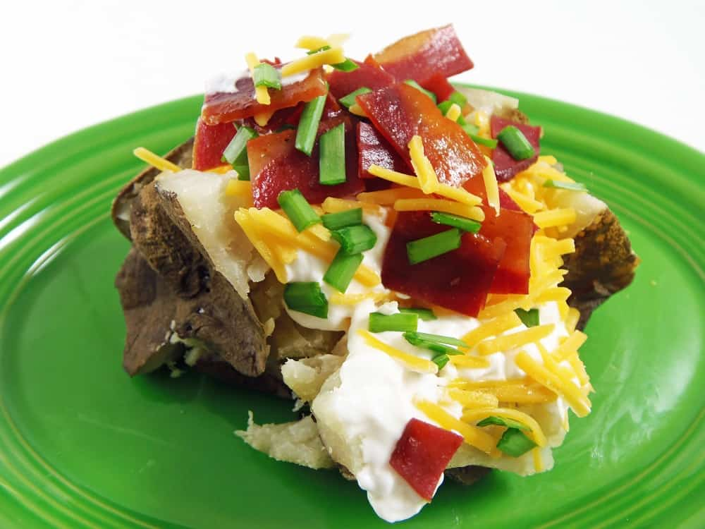 Crockpot Baked Potato With Toppings