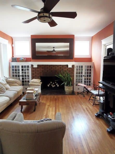 Living Room - View Facing Fireplace