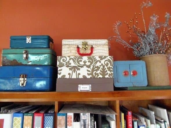 Top of Book Shelf