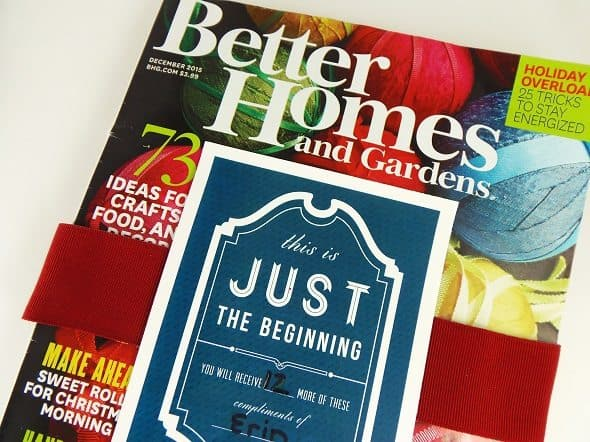 Better Homes and Gardens Gift Subscription