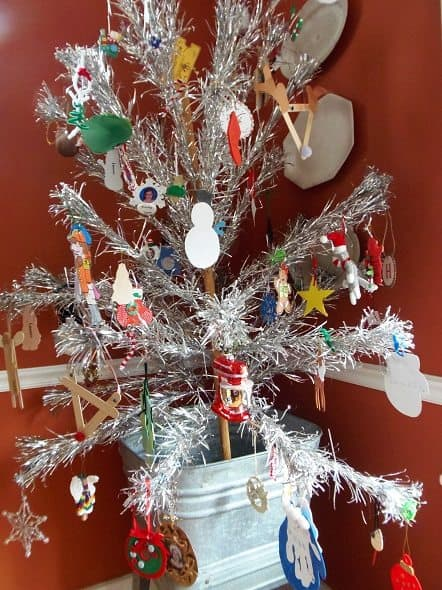 Aluminum Christmas Tree - Decorated