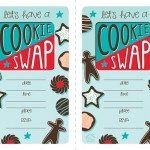 Printable Cookie Swap Invitation