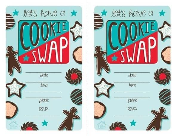 Printable Cookie Swap Invitation