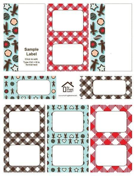 Printable Cookie Swap Labels
