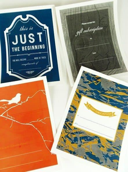 Printable Gift Subscription Gift Tags