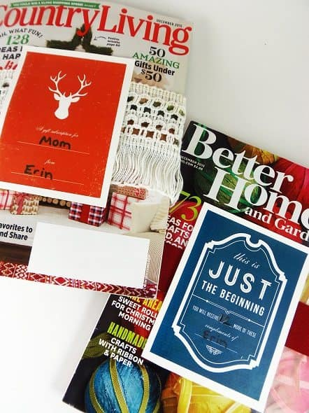 Magazines with Gift Subscription Gift Tags