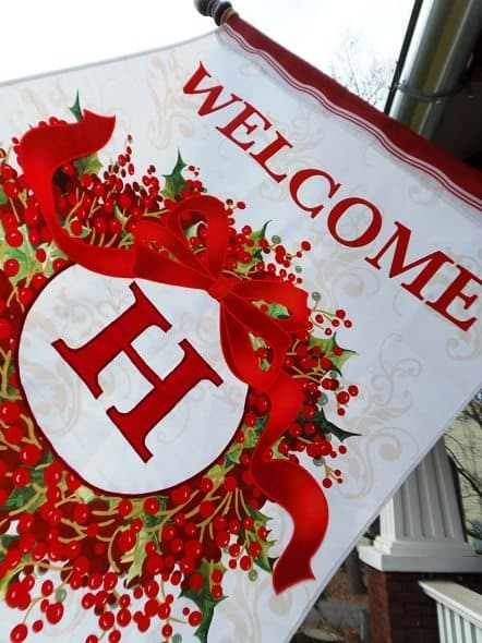 H Monogrammed Welcome Flag