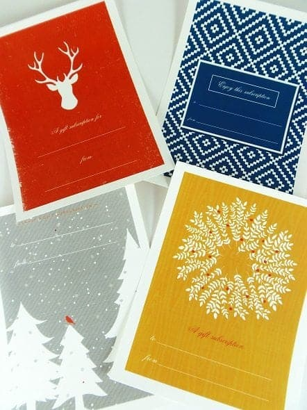 Printable Gift Subscription Holiday Gift Tags