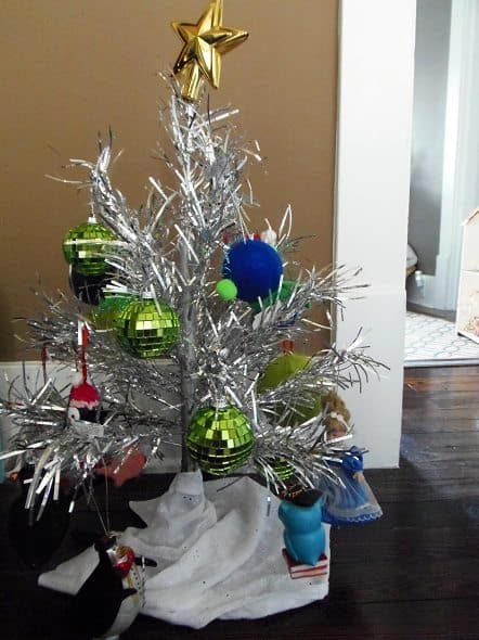 Mini Aluminum Christmas Tree
