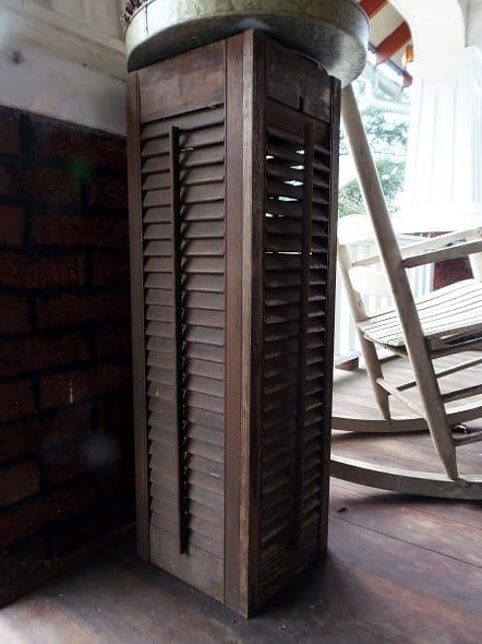 Shutter Plant Stand