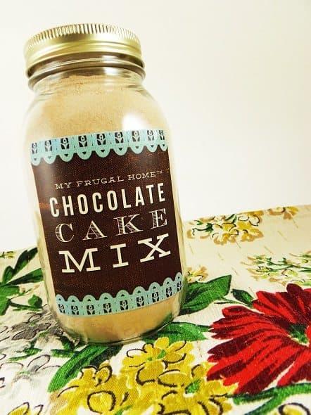 Chocolate Cake Mix in Quart Jar