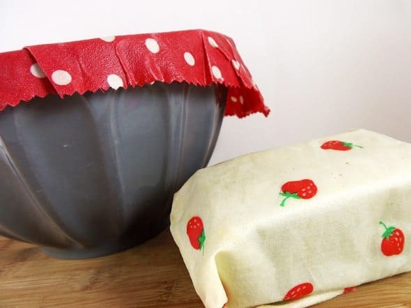 Foods Wrapped in Reusable Wrap