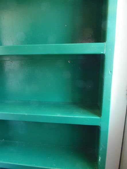 Green Shelf Closeup