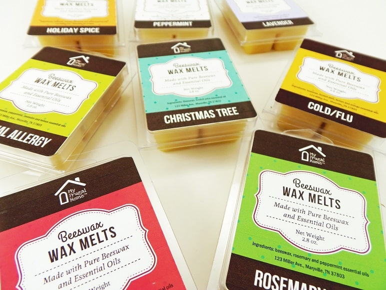 Packages of Beeswax Wax Melts