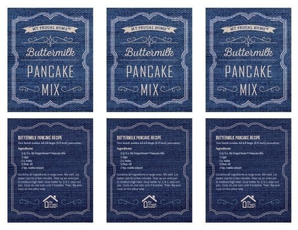 Printable Buttermilk Pancake Mix Labels