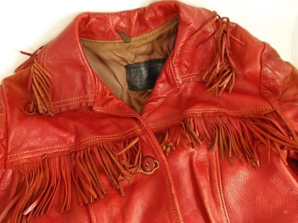 Red Vintage Leather Jacket