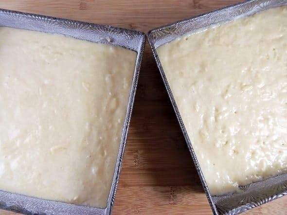 Yellow Cakes Ready for Oven