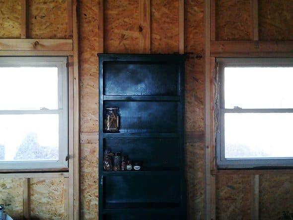 Green Shelf in Kitchen