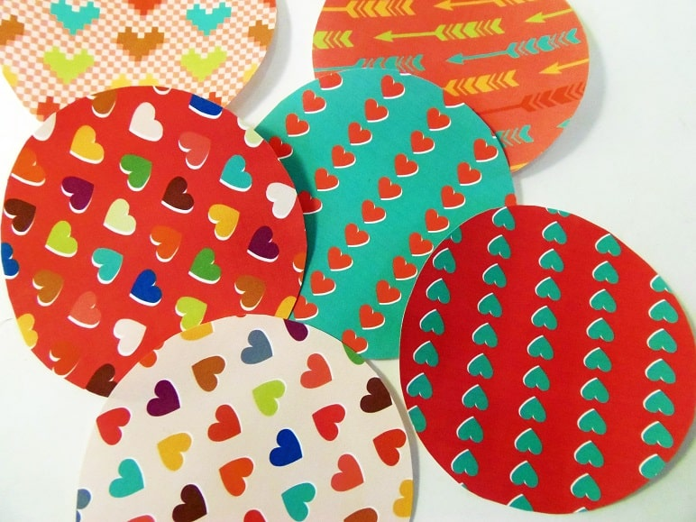 Heart Fortune Cookie Circles