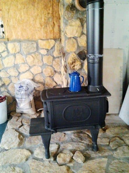 Kitchen Woodstove Side View