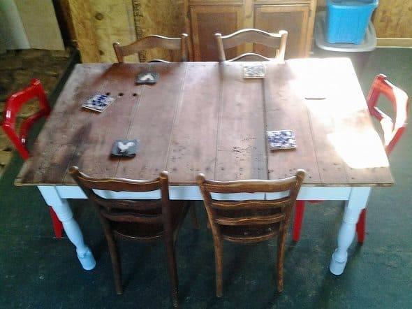 Overhead View of Table