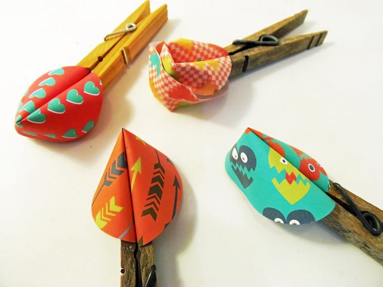 Secure the Fortune Cookies With Clothespins Until The Glue Dries