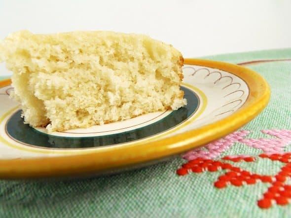 Slice of Homemade White Cake