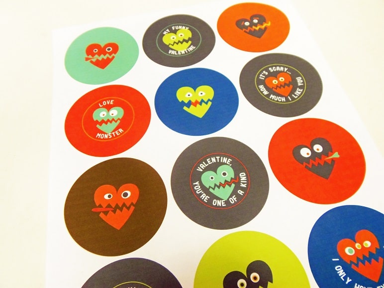 Toilet Paper Roll Valentine Monster Printable