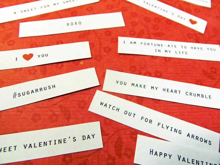 Cut Out Valentine Fortunes
