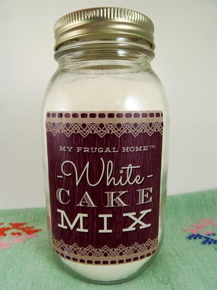 Homemade White Cake Mix