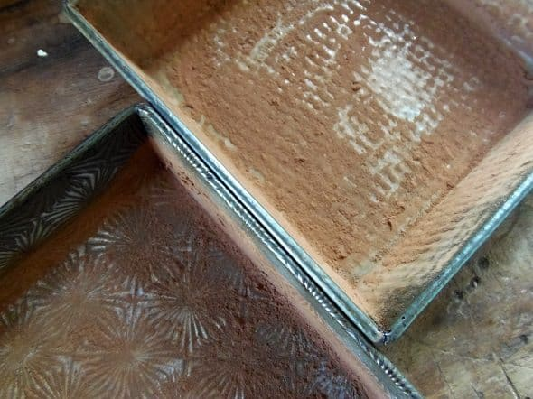 Grease and Powder Your Brownie Pans
