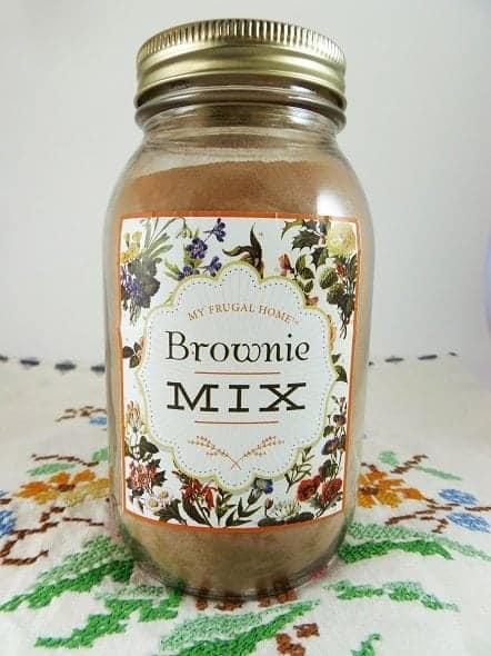 Homemade Brownie Mix Recipe