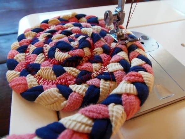 Sewing Circle Rug Together