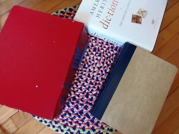 Stretch and Flatten Rug with Heavy Books