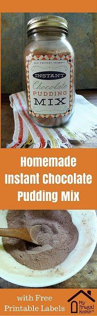 Instant Chocolate Pudding Recipe Pin