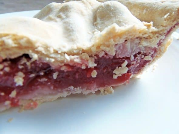 Close Up of Strawberry Pie