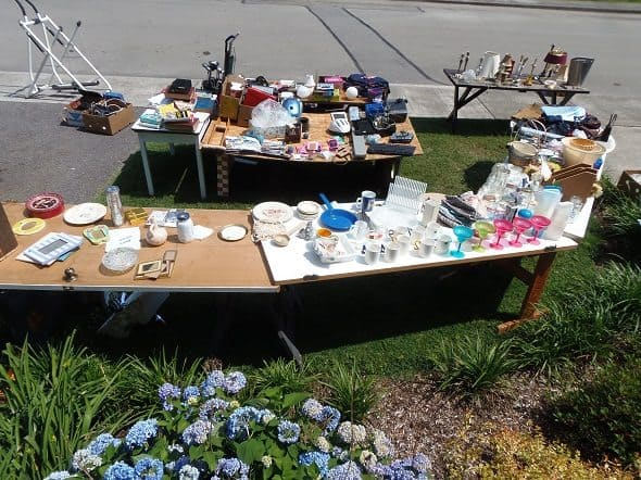 Yard Sale Tables
