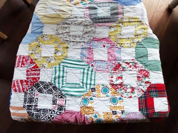 Antique Quilt Chair Cushion